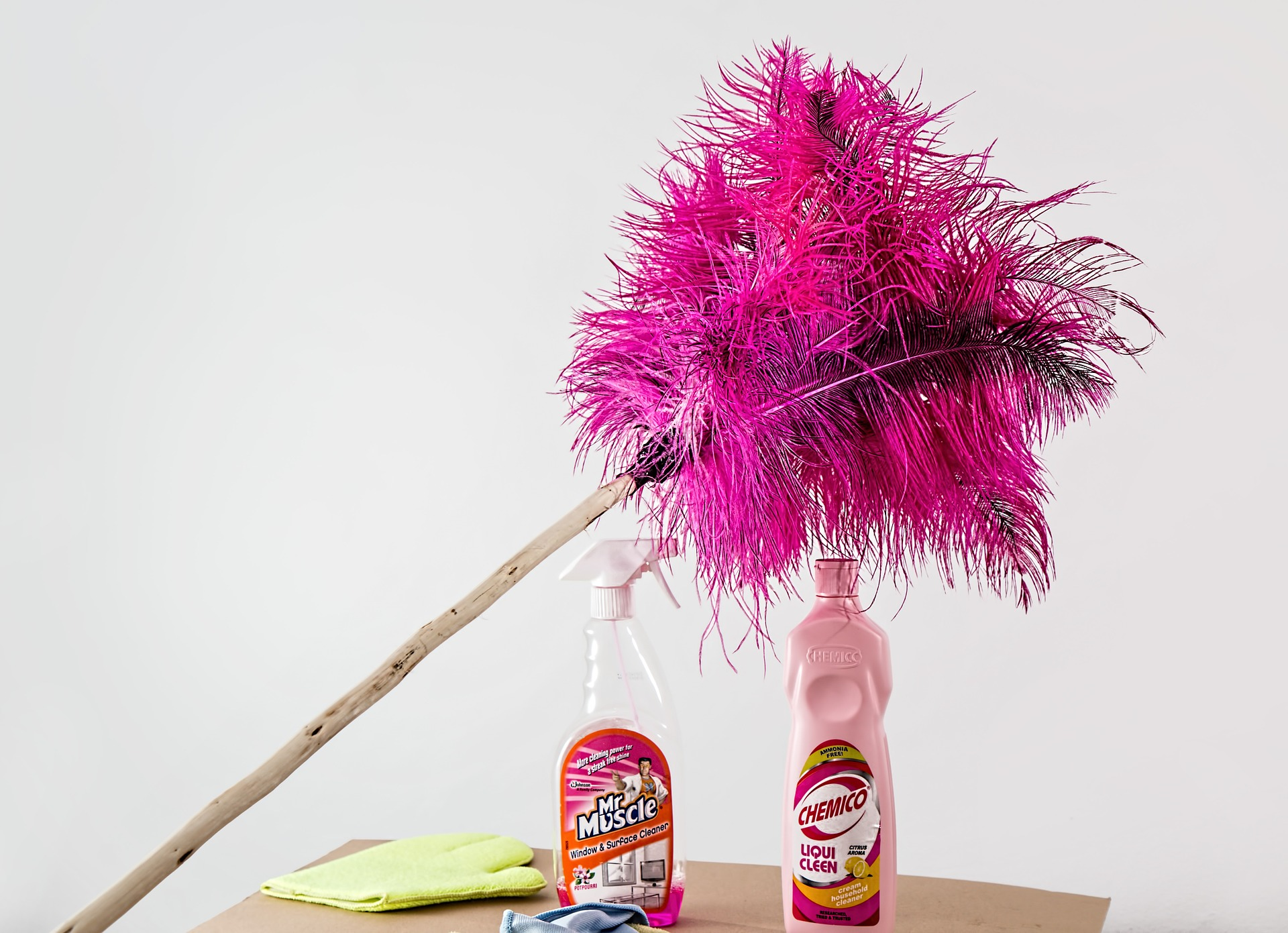 Dusting is included in the commercial cleaning services that we receive.