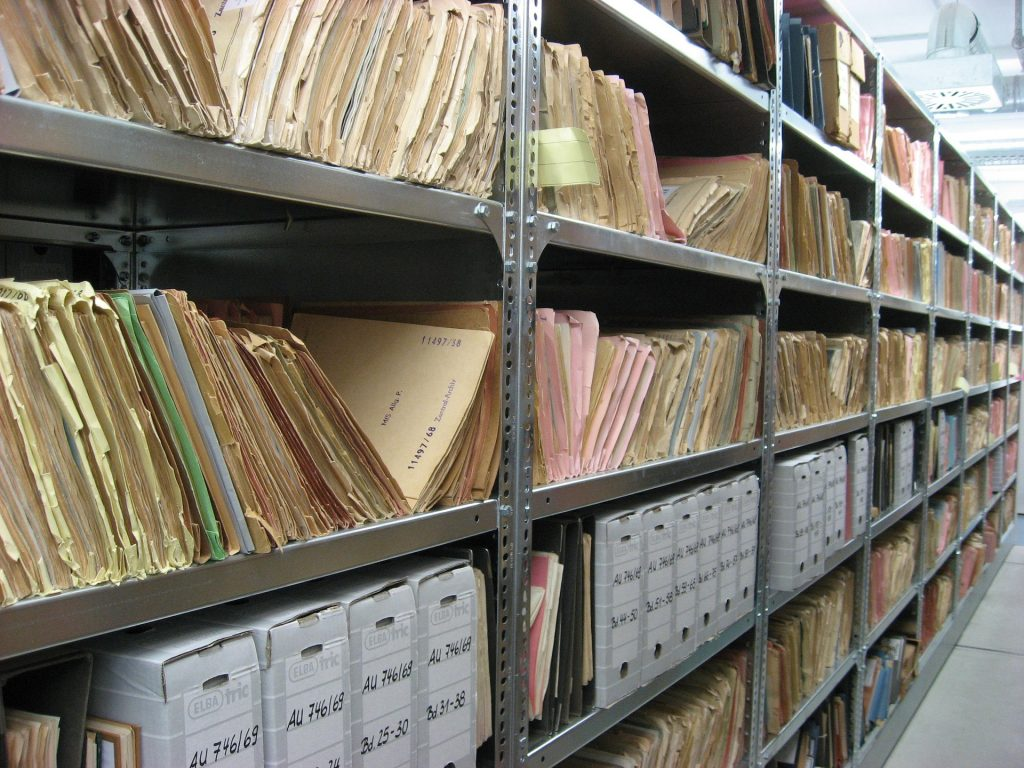 Files like this would be better kept in small self storage units rather than inhouse.