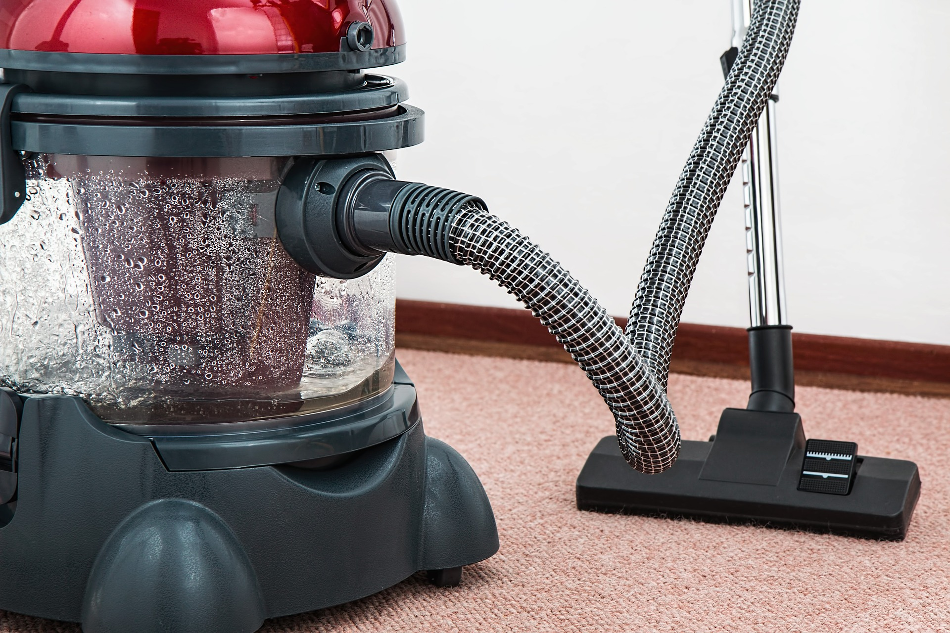 Commercial cleaning services will include vacuuming the office carpets.